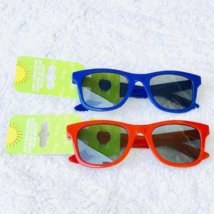 2 Pack Child Sunglasses Red & Blue